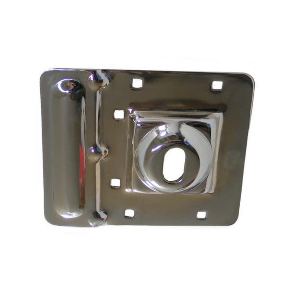 37-652OS   Dead Bolt Protector. Chrome Plated. For Outswing Door