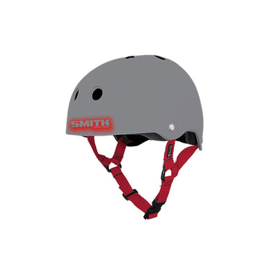 Grey/Red Helmet