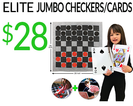 Elite Jumbo Checkers and Cards
