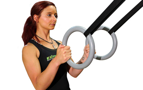 Elite Heavy Duty Gym Rings With Bonus Skipping Rope