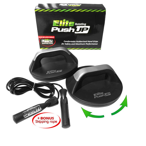 Elite Push Up Stands With Bonus Jump Rope