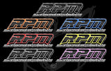 RPM Carbon Fiber Style Stickers