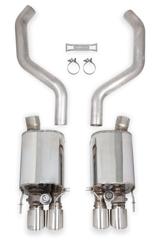 HOOKER BLACKHEART AXLE-BACK EXHAUST WITH DUAL MODE (NPP) MUFFLERS