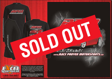 RPM Black Long Sleeve T-Shirt (Sold Out)