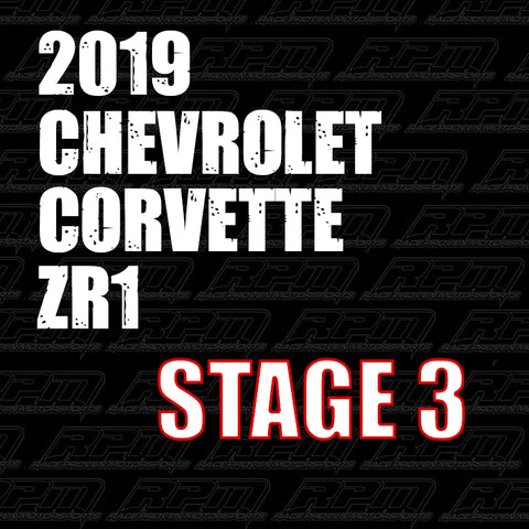 2019 Corvette ZR1 Stage 3 Performance Package