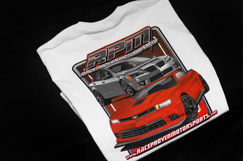 RPM White Short Sleeve T-Shirt