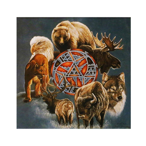 Animal Spirit Circle Giclee Paper Print