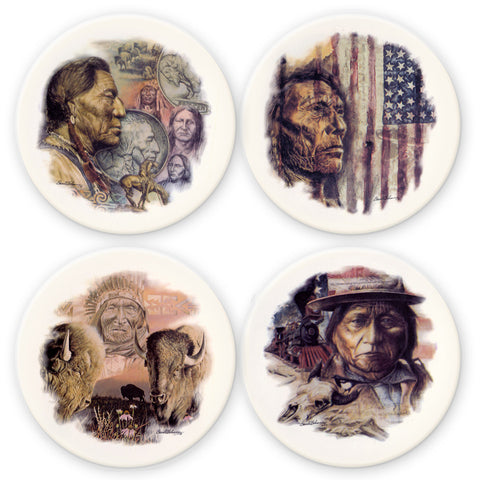 Native Shields Coaster Set