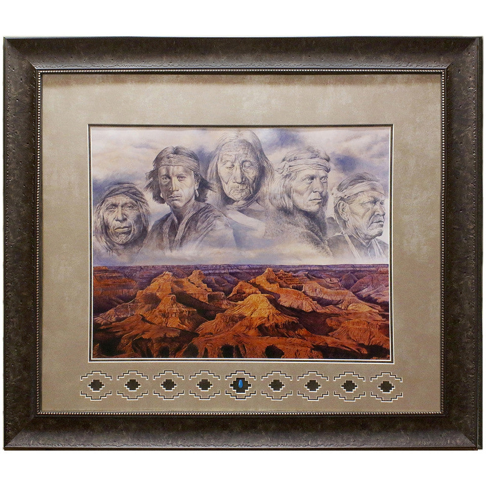 Framed and Matted Grandfather Earth Giclee Paper Print