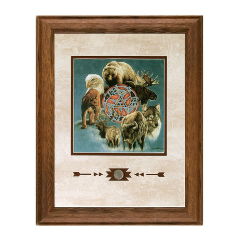 Framed Animal Spirit Circle Showcase Print