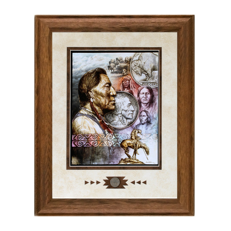 Framed Five Cent Peace Showcase Print