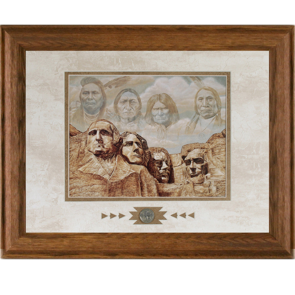 Framed Founding Fathers Showcase Print