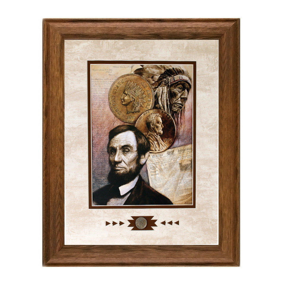 Framed Two Cents Worth Showcase Print