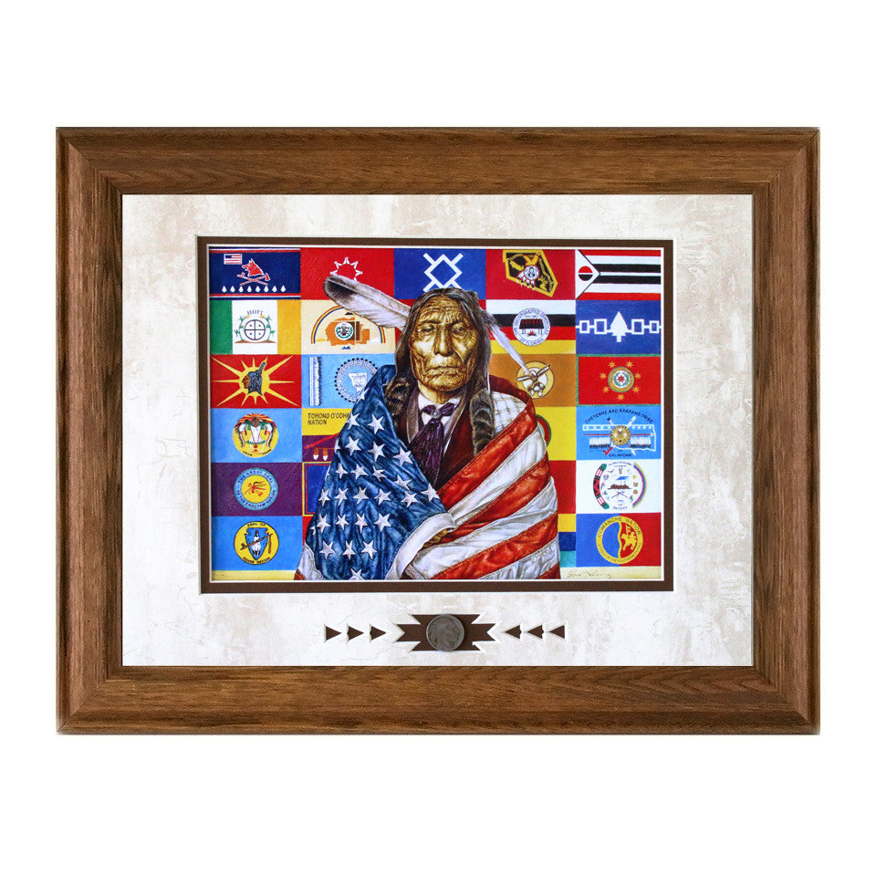 Framed Flags of our Fathers Showcase Print