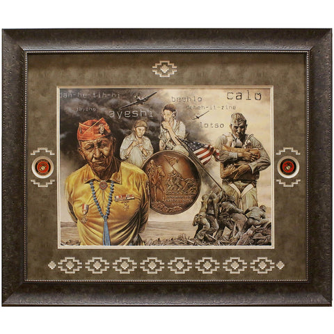 Visions of Valor Framed and Matted Limited Edition Lithograph