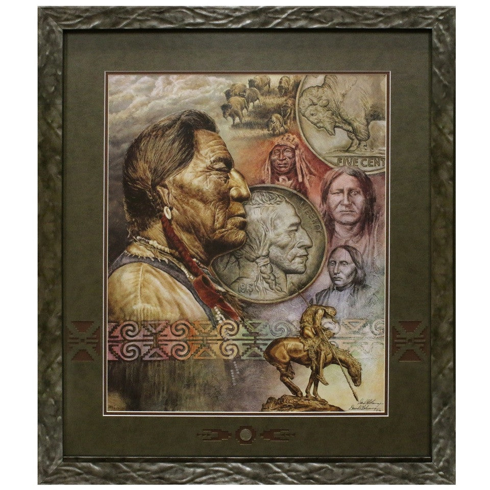 Five Cent Peace Matted and Framed Limited Edition Lithograph