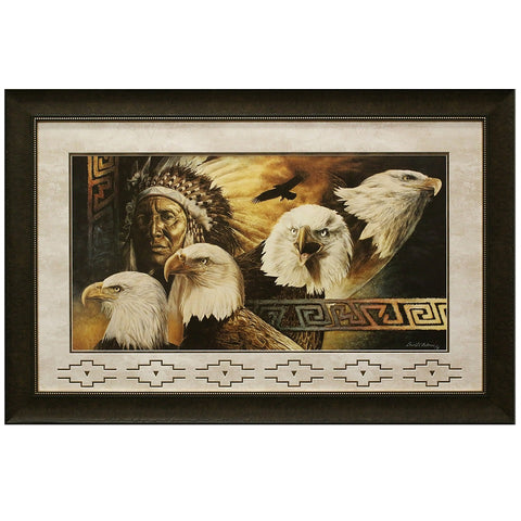 Framed and Matted Lakota Twilight Artist Proof