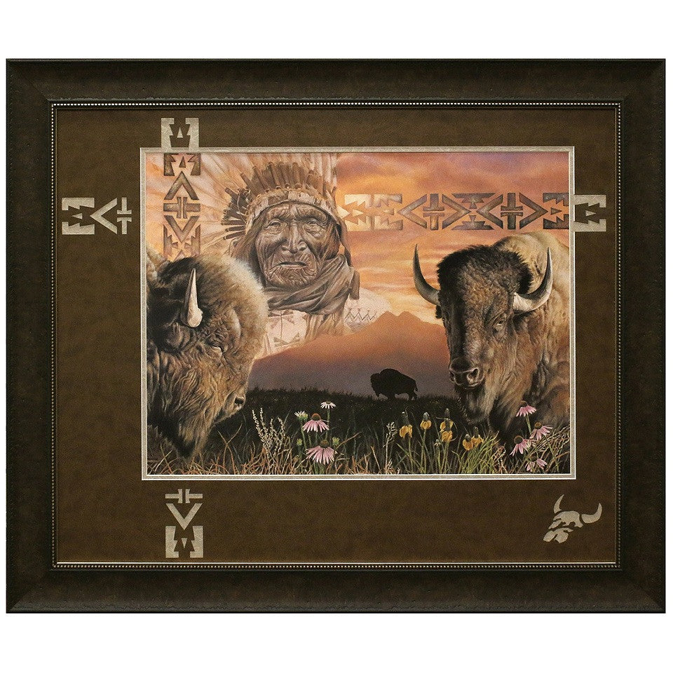 Framed and Matted Keeper of the Plains Artist Proof