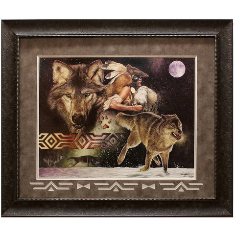 Arapaho Moon Framed and Matted Limited Edition Lithograph