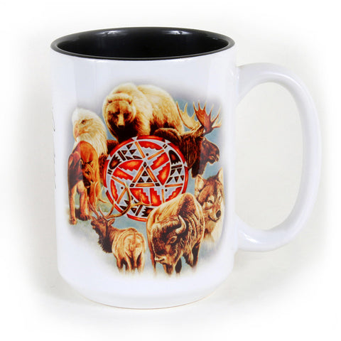 Animal Spirit Circle 15 oz. Ceramic Coffee Mug