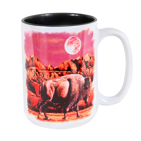 Buffalo Moon Rising 15 oz. Ceramic Coffee Mug
