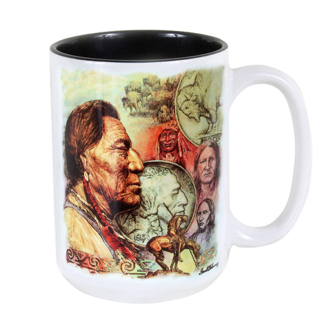 Five Cent Peace 15 oz. Ceramic Coffee Mug