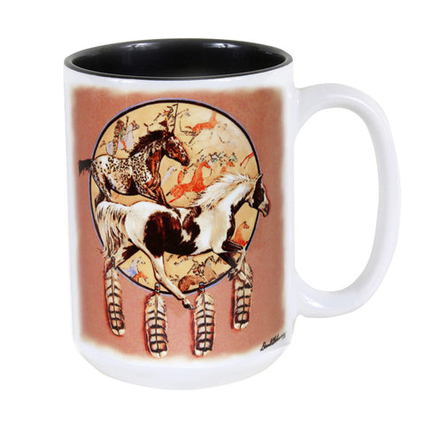 Horse Shield 15 oz. Ceramic Coffee Mug