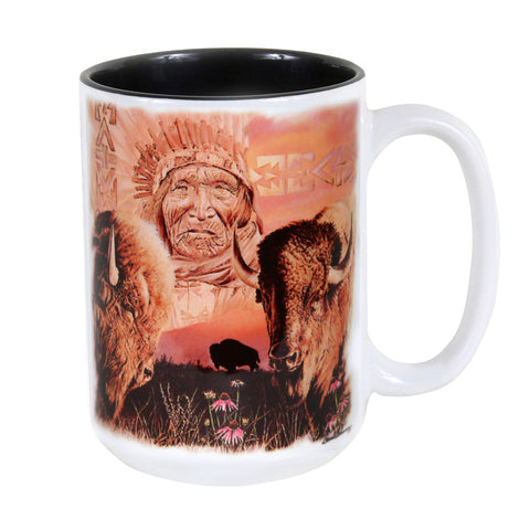 Keeper of the Plains 15 oz. Ceramic Coffee Mug