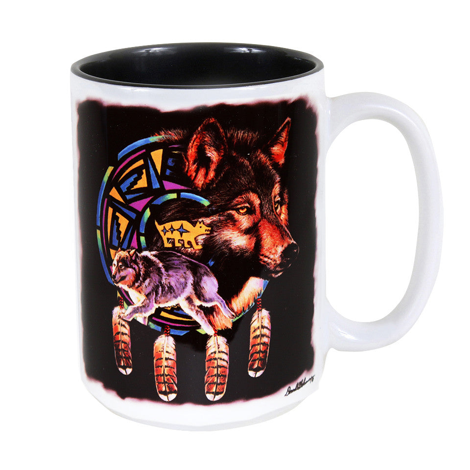 Wolf Shield 15 oz. Ceramic Coffee Mug
