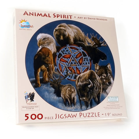 Animal Spirit Circle Puzzle 500 pieces
