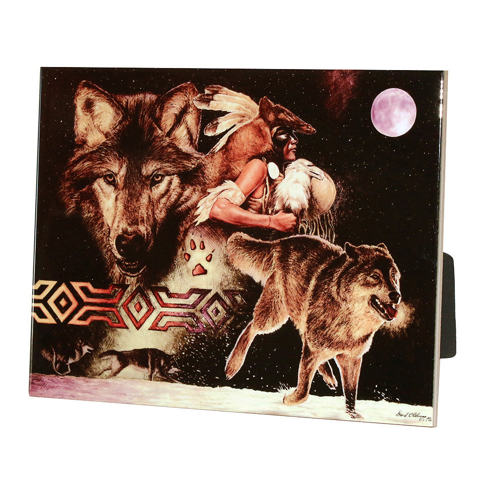 "Arapaho Moon - 6""X8"" Ceramic Tile"