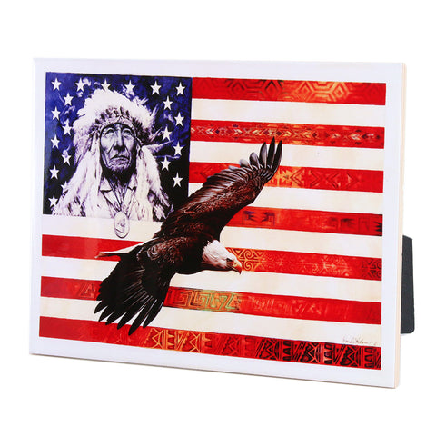 "Spirit of America - 6""X8"" Ceramic Art Tile"