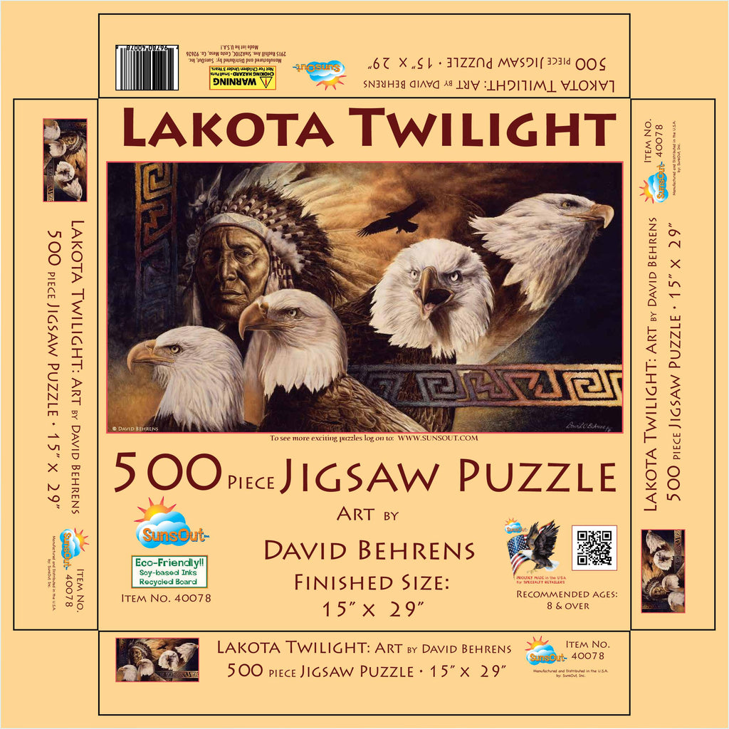 Lakota Twilight Puzzle 500 pieces