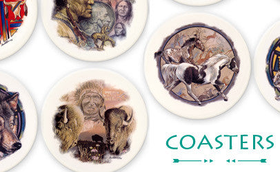 Shop our coasters, featuring some of David Behrens' most popular artworks
