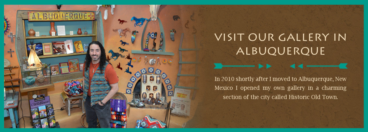 Visit our gallery in historic Old Town, in Albuquerque, New Mexico