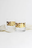 Gold 'Cheers' Rocks Glasses - Vital Industries