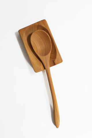 Cherry Wood Spoon Rest - Jonathan's