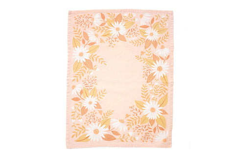 Pink Flowers Kitchen Towel