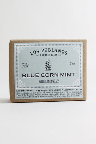 Blue Corn Mint Handmade Soap Bar - Los Poblanos