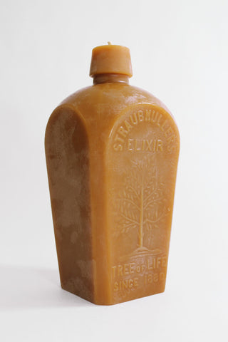 Tree of Life Bottle Beeswax Candle