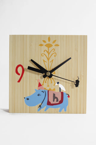 Hippopotomus Bamboo Clock- Jude Morales - Sosie and Gogo