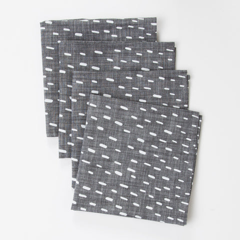 Sideways Rain Cloth Napkin Set of 2
