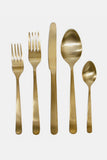 Oslo Cutlery Set in Matte Gold - Canvas