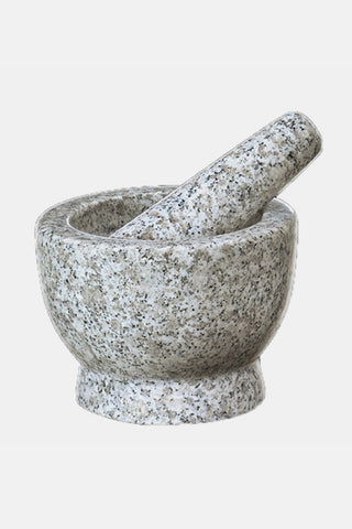 White Granite Soloman Mortar & Pestle