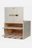 Cake and Cupcake Wood Box Carrier - Piebox