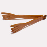 Cherry Wood Inside Out Salad Tongs
