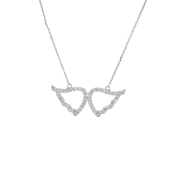 CZ ANGEL WINGS NECKLACE