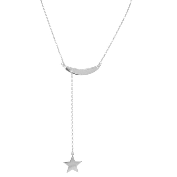 MOON AND HANGING STAR NECKLACE