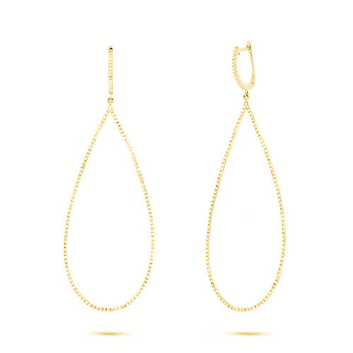 TEARDROP CZ EARRINGS