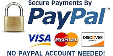 Secure Payments by Paypal - Amex Mastercard Visa Discovery